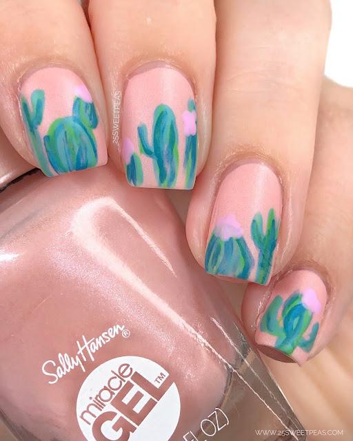 Fun Cacti Nail Art
