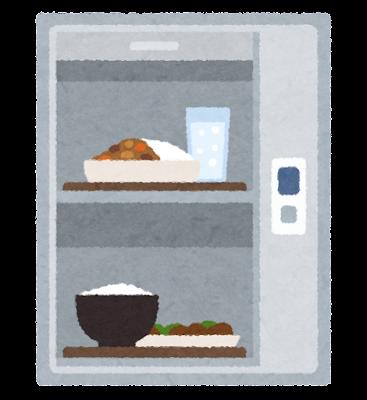 食品用エレベーターのイラスト