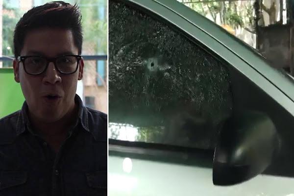 Así quedó el carro de Arnaldo Albornoz tras su asesinato