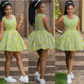 Ankara mini gown styles