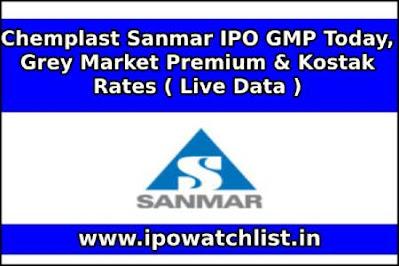 Chemplast Sanmar IPO GMP Today, Grey Market Premium