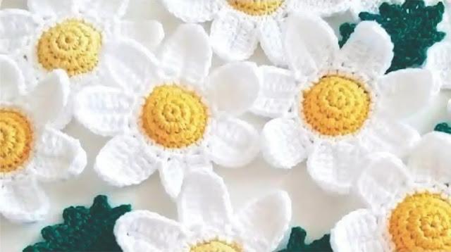 Tutorial Hermosa Flor Blanca a Crochet