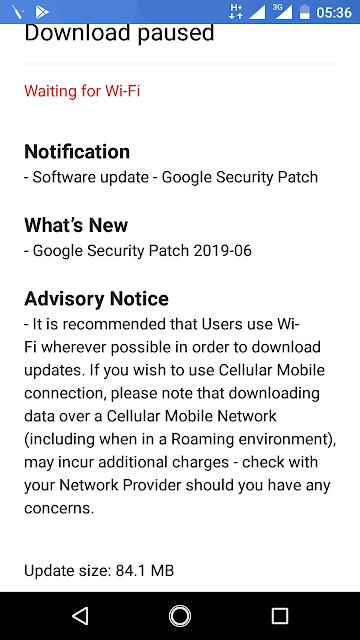 Nokia 2 receiving June 2019 Android Security Update