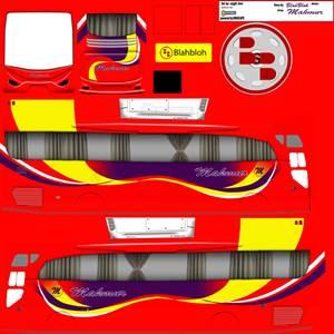 livery bussid hd sumatera makmur