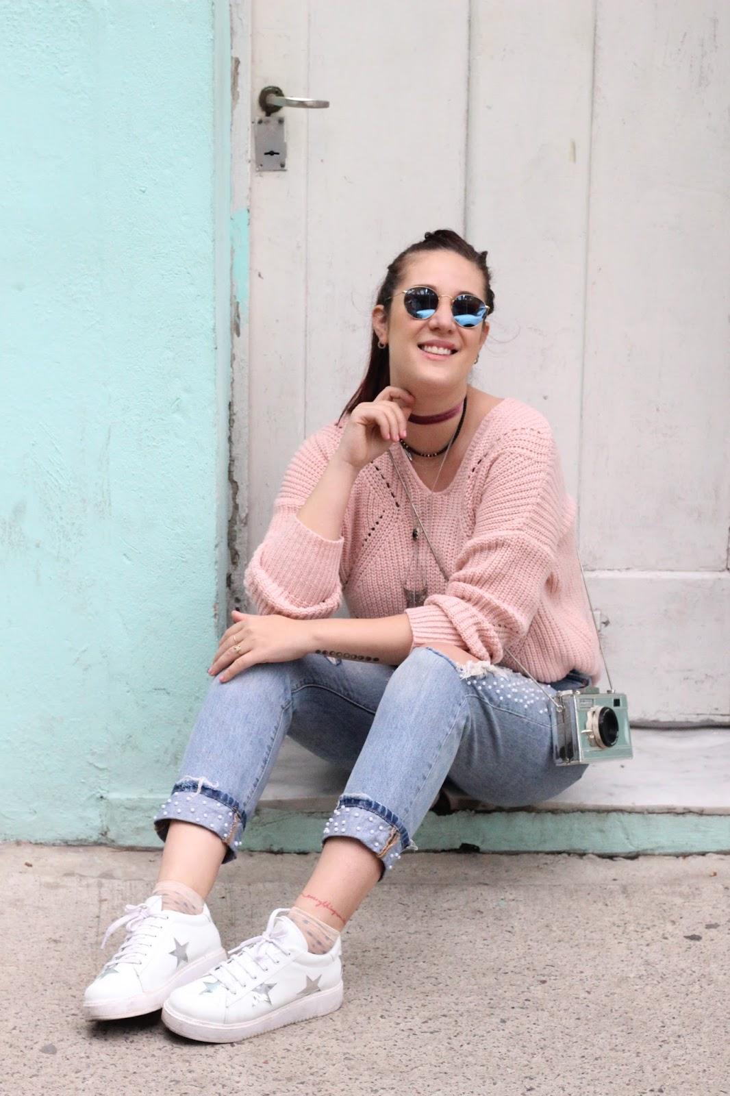 Jeans de Perlas DIY