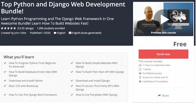 [100% Free] Top Python and Django Web Development Bundle!
