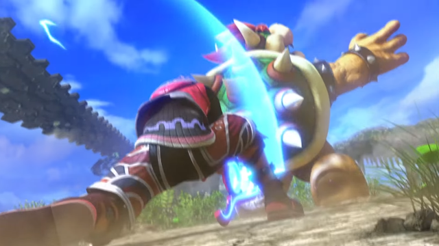 Super Smash Bros. For Wii U Shulk Back Slash Bowser trailer