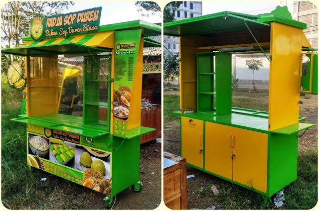 Gerobak minuman,gerobak sop durian,gerobak unik