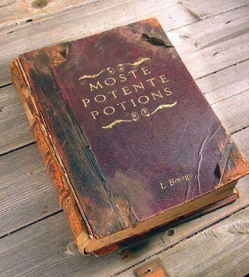 Ancient potions book manuscript