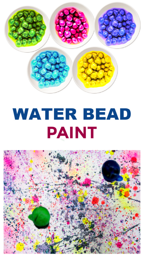 Make beautiful process art and paint with water beads! #paintingideasforkids #waterbeadpainting #waterbeadsideas #waterbeads #growingajeweledrose #activitiesforkids
