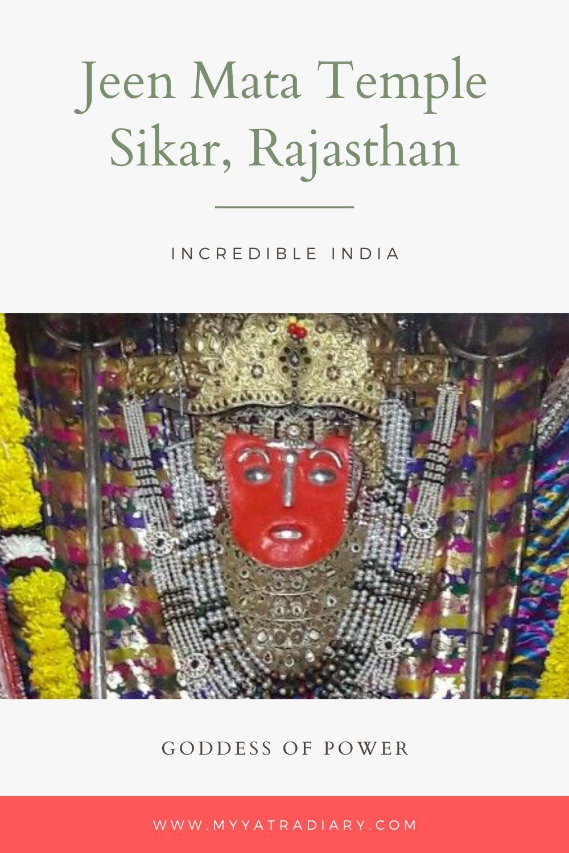 Jeen Mata Temple Sikar Rajasthan Pinterest