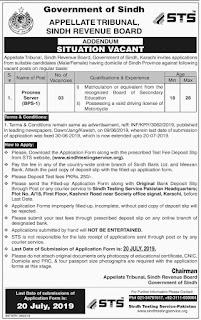 Sindh Revenue Board Appellate Tribunal Jobs 2019 by Green