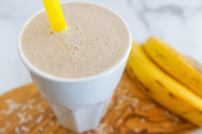 Coconut Butter-Banana Smoothie: a satisfying smoothie that's gluten-free, dairy-free, and free of added sugars