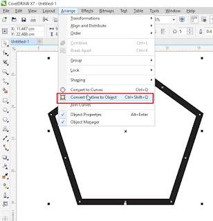 Cara Convert Outline menjadi Object Pada CorelDRAW