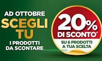 """Isola dei Tesori """"Ad ottobre scegli tu i prodotti da scontare"""" : gratis bollini con 20% di sconto"""
