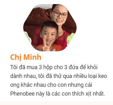 Review chị Minh Hằng đã sử dụng keo ong xịt trị viêm họng phenobee