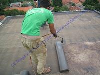 cara pasang waterproofing membrane bakar pada dak beton