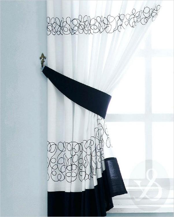 Black And White Kitchen Curtains Home Interior Exterior Decor Design Ideas