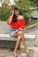 Rhea Chakraborty in Red Crop Top and Denim Shorts Spicy Pics ~  Exclusive 363.JPG