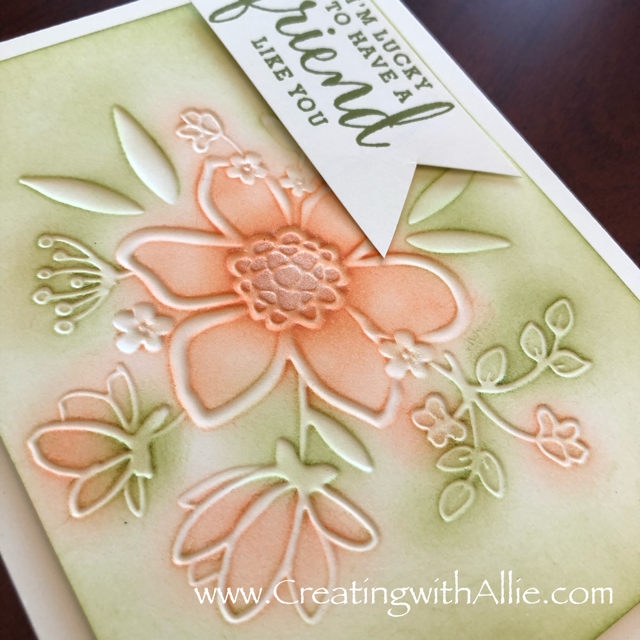 Check out the video tutorial with some AMAZING tips and tricks for making cards using Stampin Up's brand new Share What You Love Suite!  You will love how quick and easy this is to make!  www.creatingwithallie.com #stampinup #alejandragomez #creatingwithallie #videotutorial #cardmaking #papercrafts #handmadegreetingcards #fun #creativity #makeacard #sendacard #stampingisfun #sharewhatyoulove #onestampsetdifferentlooks #sharewhatyoulove