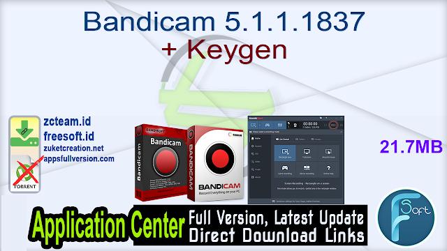 Bandicam 5.1.1.1837 + Keygen_ ZcTeam.id