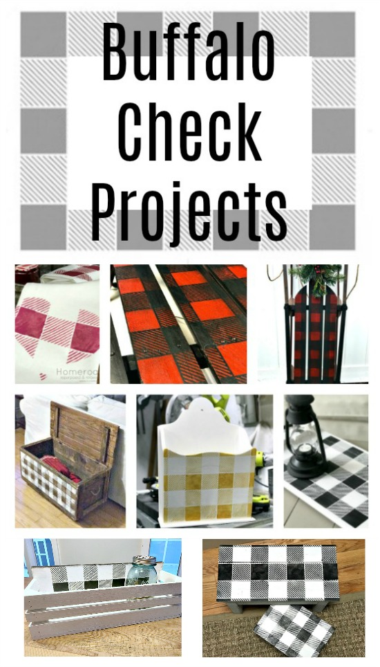 DIY Stenciled Buffalo Check Projects. Homeroad.net
