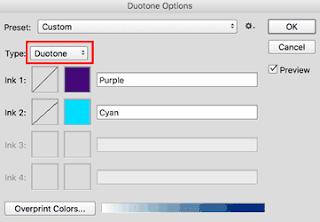 cara membuat duotone efek