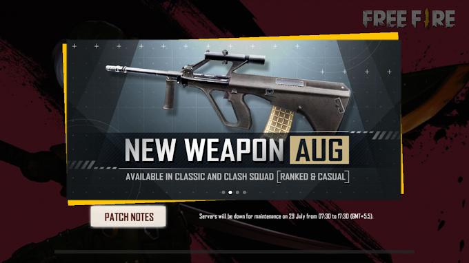 Free fire OB23 Update: New AUG Gun added on free fire.