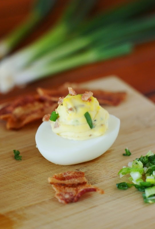 Bacon and Scallion Deviled Eggs