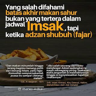 waktu imsak puasa ramadhan yang sesungguhnya