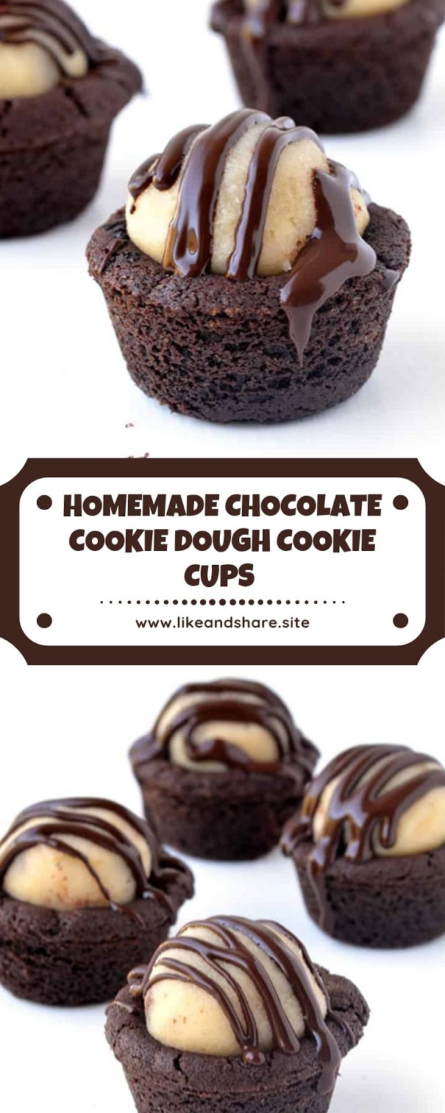 HOMEMADE CHOCOLATE COOKIE DOUGH COOKIE CUPS