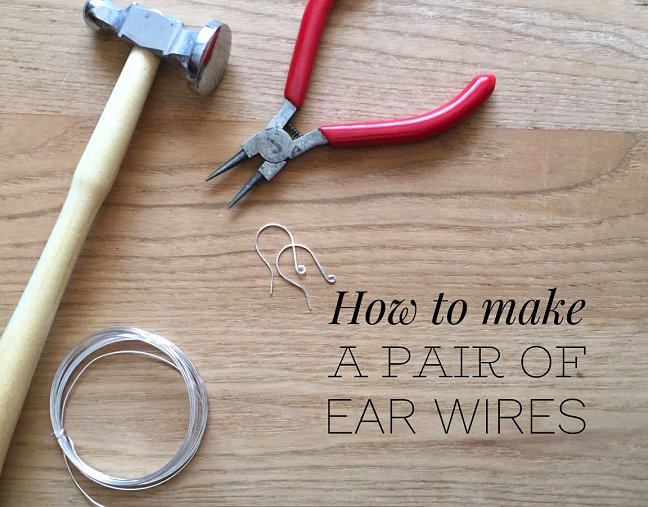 How to make earwires for earrings