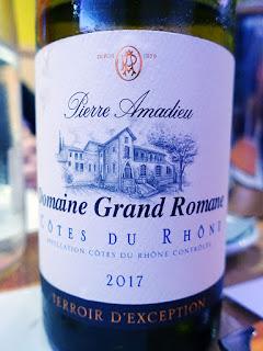Pierre Amadieu Domaine Grand Romane Côtes du Rhône Blanc 2017 (89 pts)