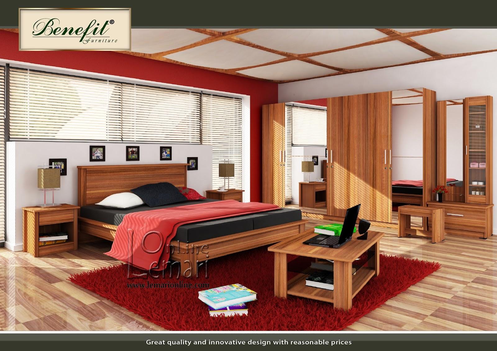 Warna french walnut dengan nuansa natural bisa menambah kesejukan ruangan anda