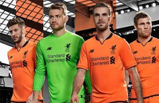 Liverpool FC Perkenalkan Jersey Ketiga Terbaru Musim 2017-2018