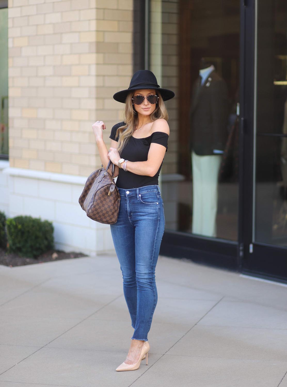 revolve black superdown felicia asymmetrical bodysuit