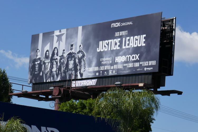 Justice League 2021 billboard