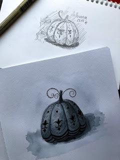 рисую тыкву