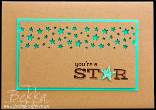You're A Star Card featuring the Pictogram Punches Stamp Set From Stampin' Up! Available Here