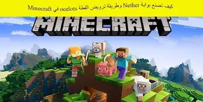 كيف تصنع بوابة Nether وطريقة ترويض القطة ocelots في Minecraft