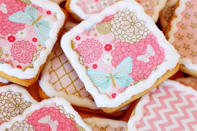 Galletas decoradas papel de azúcar