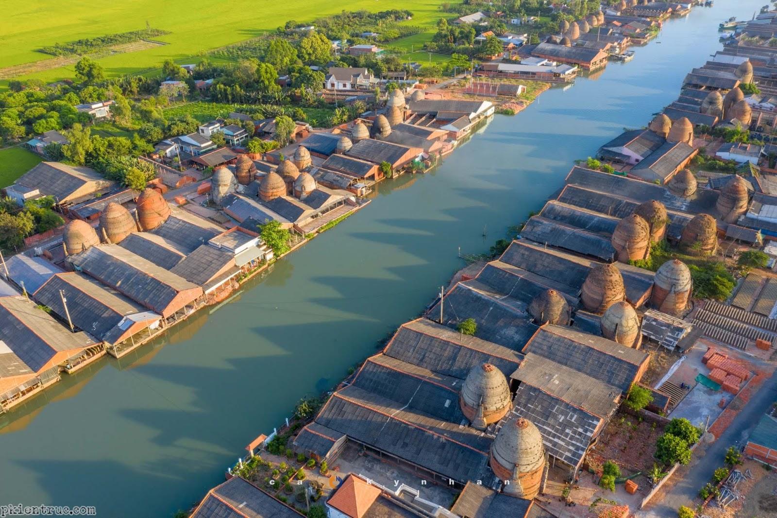 Ảnh chụp làng gốm Vĩnh Long trên cao- ảnh 5