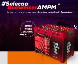 Cadastrar Promoção Seleção Budseiser AMPM Ipiranga 2018 Pebolim
