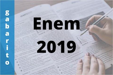 Confira o gabarito do Enem 2019