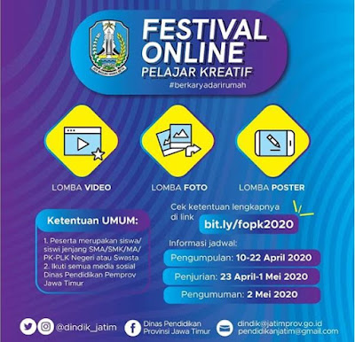 Ikut Lomba Festival Online Pelajar Kreatif 2020