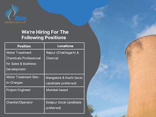 Vasu Chemicals LLP Hiring ITI/ Diploma/B.Sc/M.Sc/BE Candidates for Multiple Positions Across India
