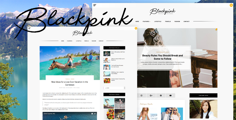 XML Blackpink Blogger Template