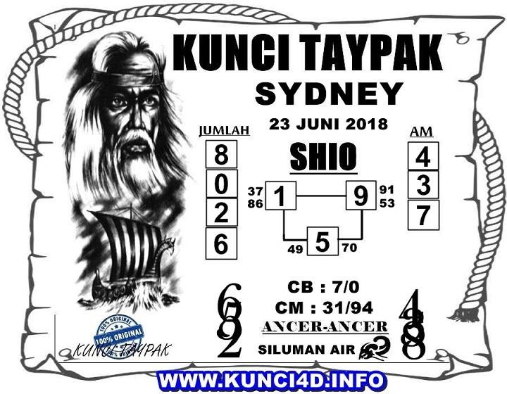 Bocoran Sydney 23 Juni 2018 - Kode Syair SGP HK SD Motesia