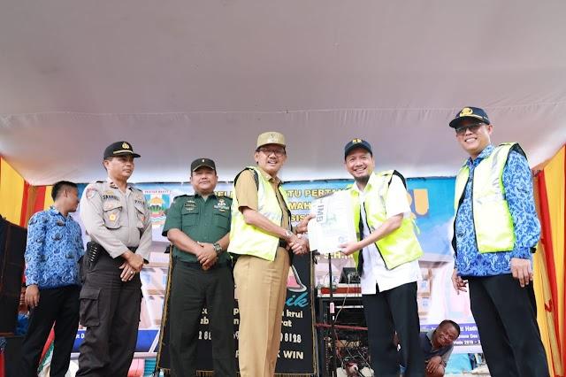 Pabung Kodim 0422/LB hadir acara peletakan batu pertama pembangunan Rumah Su
