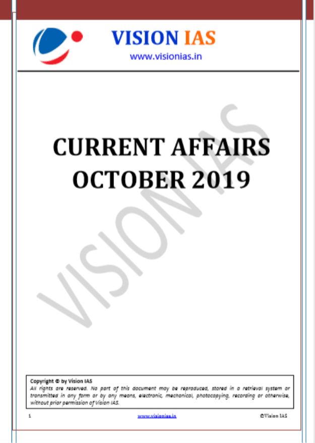 Vision-IAS-Current-Affairs-October-2019-For-UPSC-Exam-PDF-Book
